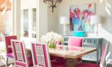 Fuşya Rengi Mutfak Masası