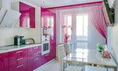 Fuşya Renk Mutfak Dekorasyonu 2019