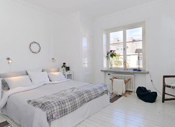 Beyaz Renk Japon Sitli Yatak Odası Tasarımı