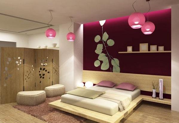 Estetik Görünümlü Japon Tarzı Yatak Odası