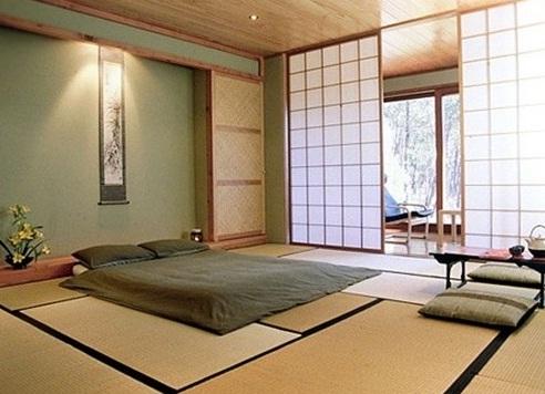 Bazasız Japon Tarzı Yatak Odası Tasarımı