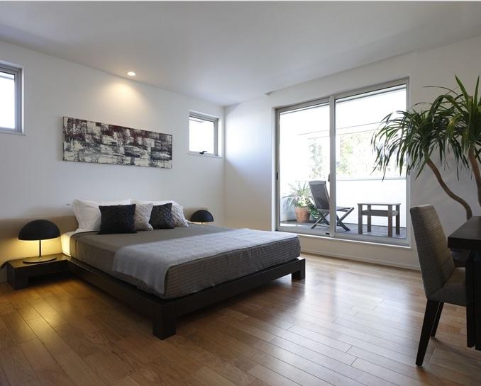 Koyu Renk Japon Sitili Yatak Odası Tasarımı