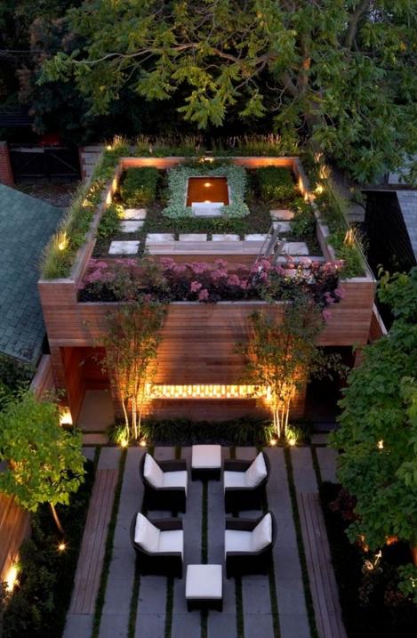 Çatı Bahçesi Oturma Alanı