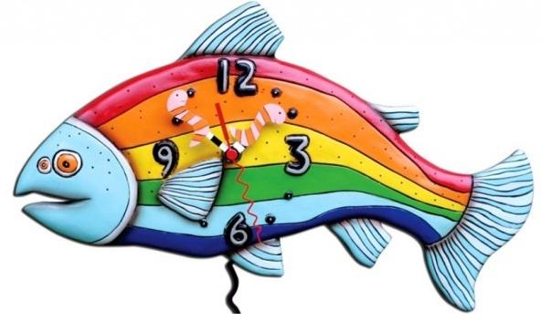 Balık Figürlü Mutfak Saati Modeli