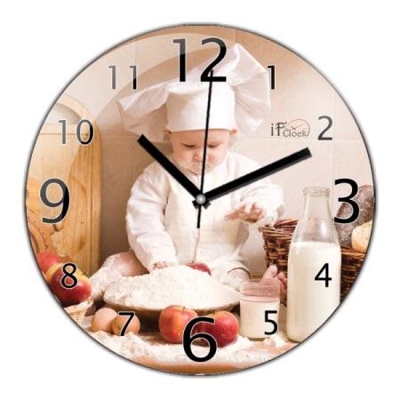 Bebek Resimli Mutfak Saati Modeli