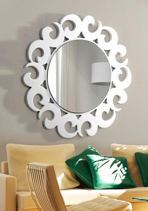 Beyaz Salon Ayna Modeli