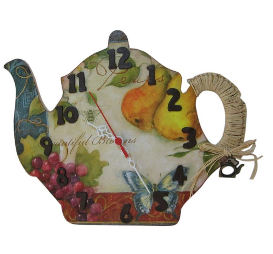 Çaydanlık Resimli Mutfak Saati Modeli