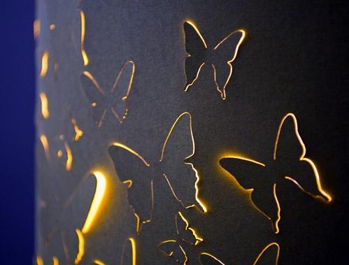 Kelebek Motivli Dekoratif Lambader Modelleri