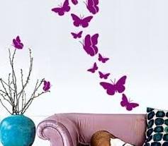 Kelebek Resimli Duvar Stickerları