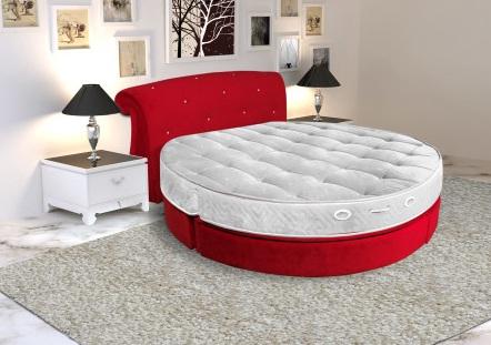 Kırmızı Yuvarlak Yatak Başlıkları