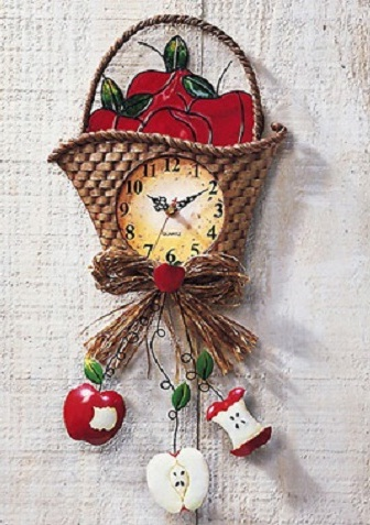 Sepet Figürlü Mutfak Saati Modeli