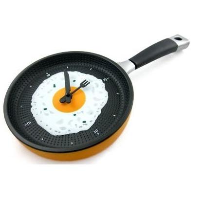 Tava Resimli Mutfak Saati Modeli