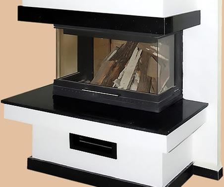 Üç Tarafı Açık Şömine Modeli