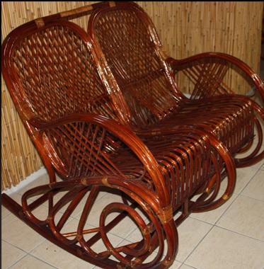 İki Kişilik Bambu Sallanan Sandalye