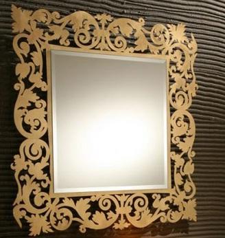 Altın Sarısı Varak Ayna Modeli
