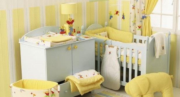 Sarı Bebek Odası Takımları