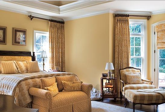 Islak Kum Rengi Yatak Odası Dekorasyonu