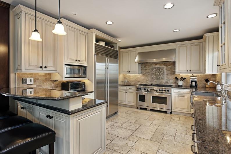 Beyaz ve Krem Renk Mutfak Tasarım Fikirleri