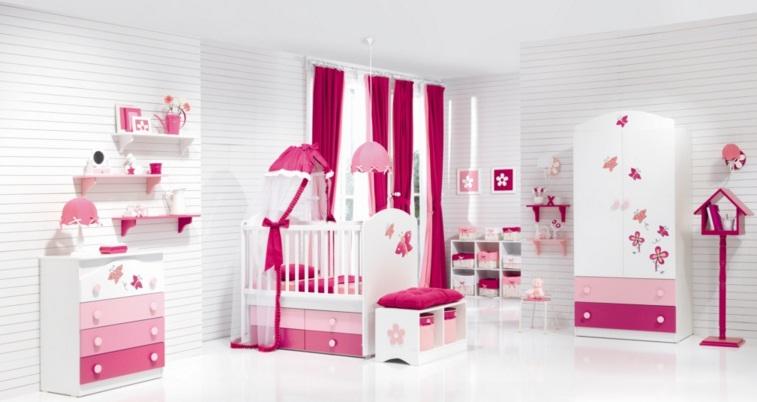 Kırmızı Bebek Odası Takımları