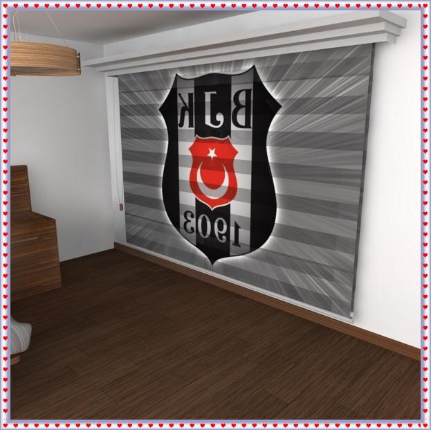 Beşiktaş Baskılı Perde