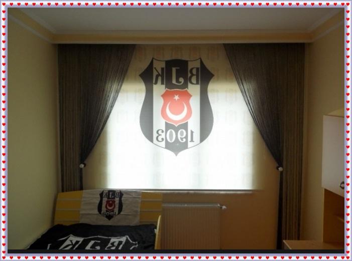 Beşiktaş Stor Perde Modeli