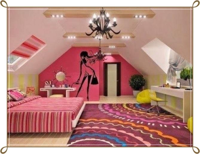 Çatı Katı Kız Çocuk Odası