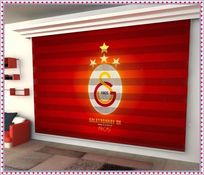 Galatasaray Baskılı Perde Modelleri