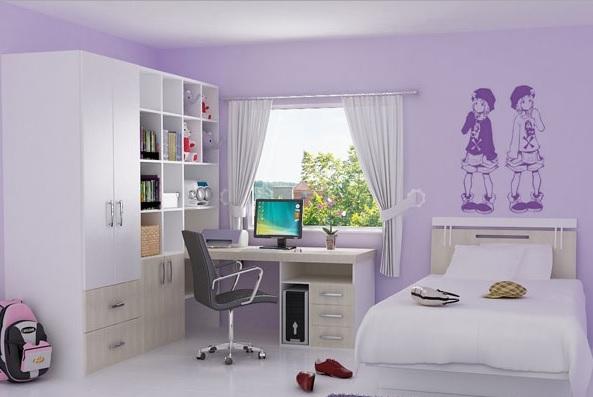 Leylak Rengi Çocuk Odası