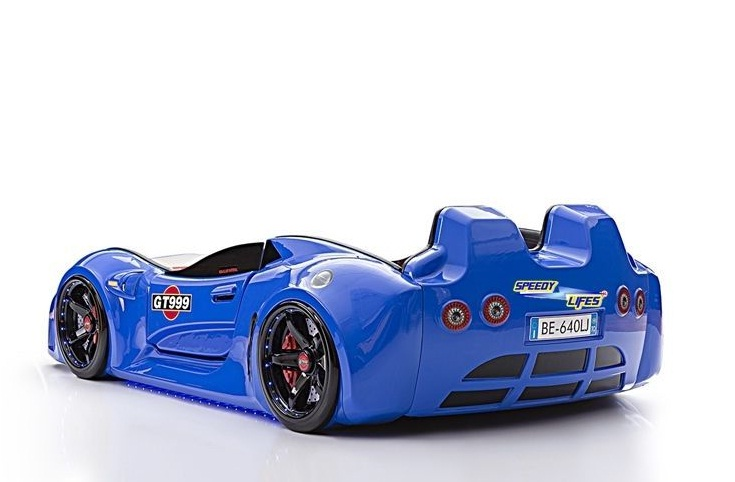 Mavi Renk Arabalı Yataklar
