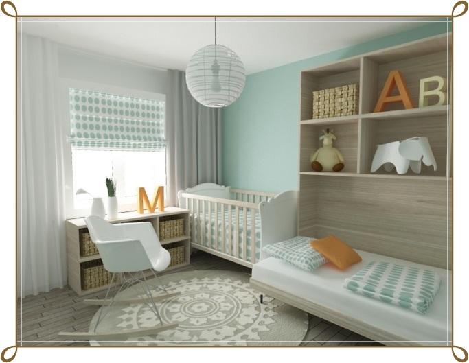 Mint Yeşili Bebek Odası