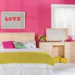 Modern Yatak Odası Gül Kurusu Rengi