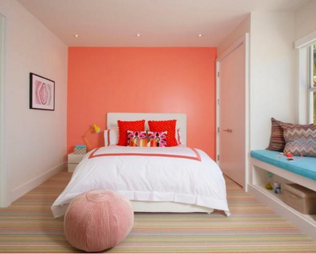 Somon Rengi Modern Yatak Odası