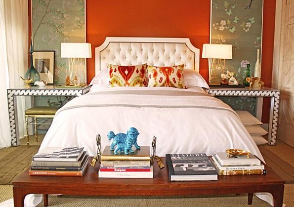 Somon Rengi Yatak Odası