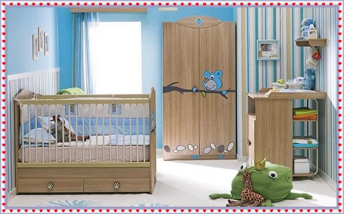 Kahve Rengi Bebek Odaları