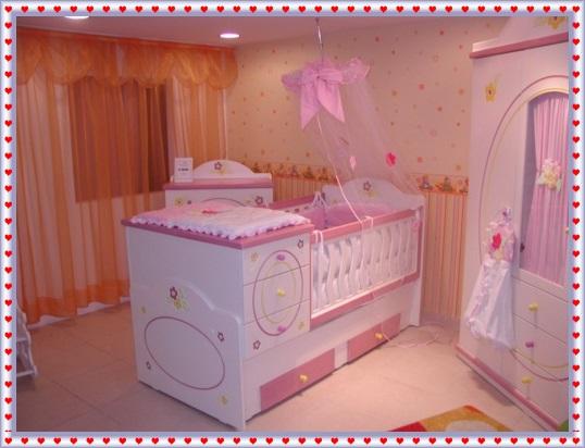 Pembe Renk Bebek Odaları