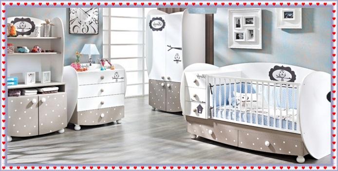 Şık Görünümlü Bebek Odaları