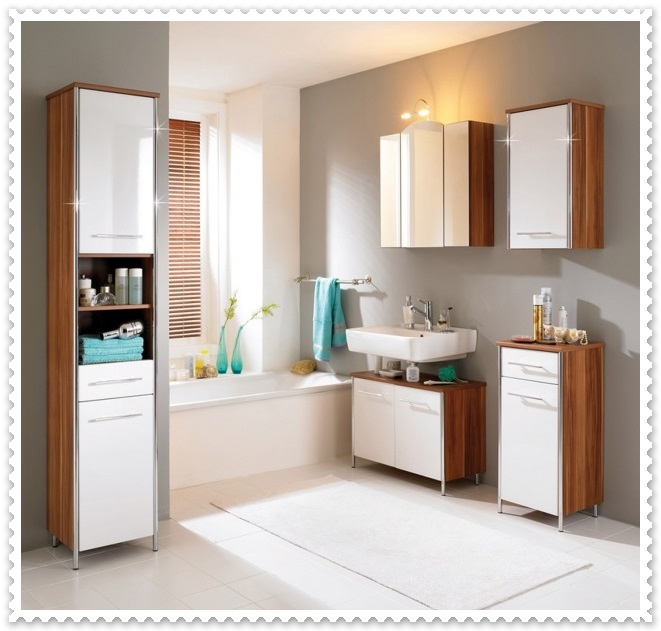 Beyaz Renk Banyo Dekorasyonları