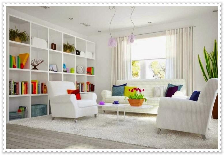Beyaz Renk Misafir Odası Dekorasyonları