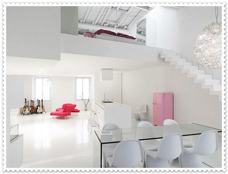 Beyaz Renk Modern Ev Dekorasyonları