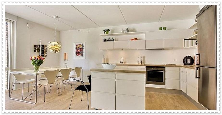Beyaz Renk Mutfak Dekorasyonları