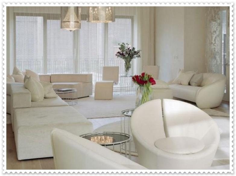 Beyaz Renk Şık Ev Dekorasyonları