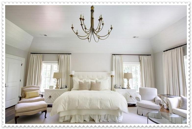Beyaz Renk Yatak Odası Dekorasyonları