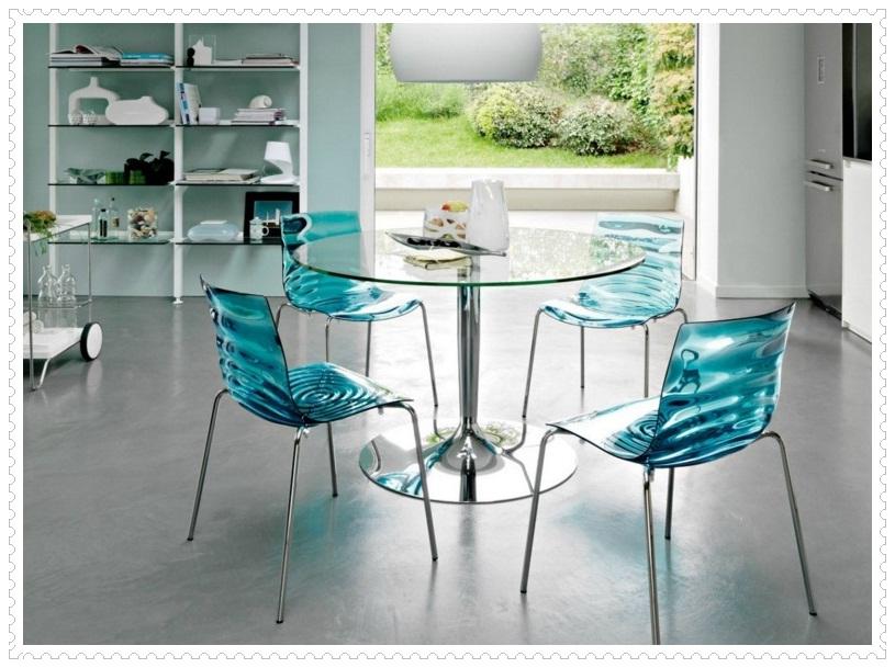 Cam Sandalyeli Mutfak Masası