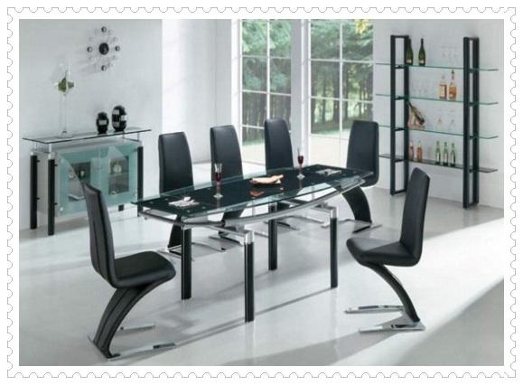 Cam Tasarım Mutfak Masası