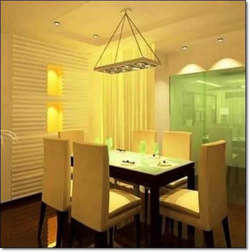 Estetik Sarı Yemek Odaları