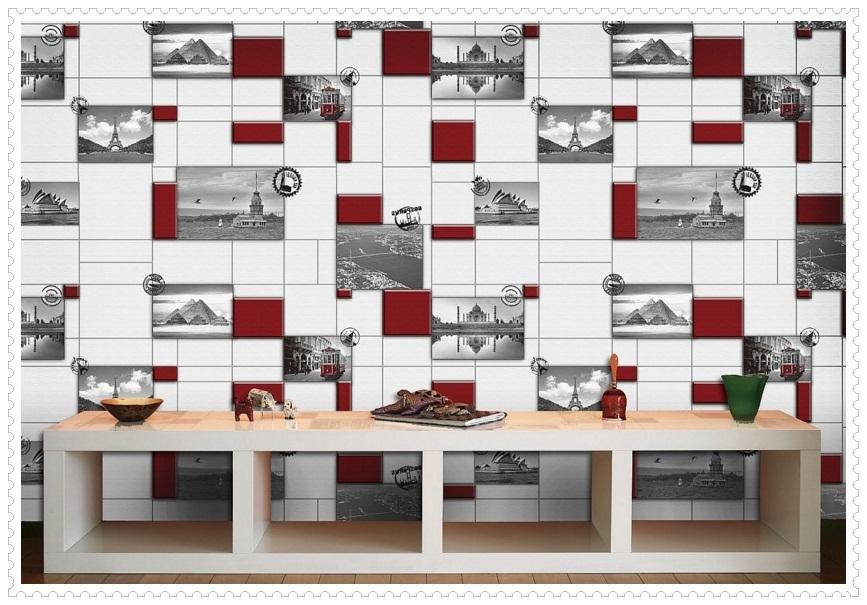 Kırmızı Gri Duvar Kağıtları