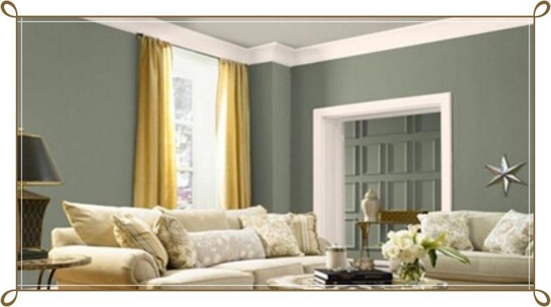 Kül Bulutu Rengi Modern Salon Dekorasyonu