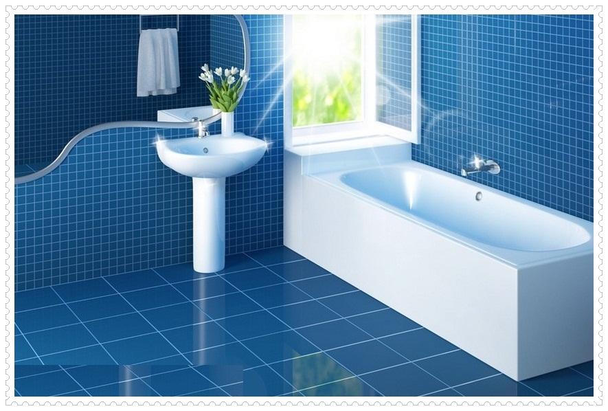 Mavi Banyo DekorasyonuMavi Banyo Dekorasyonu