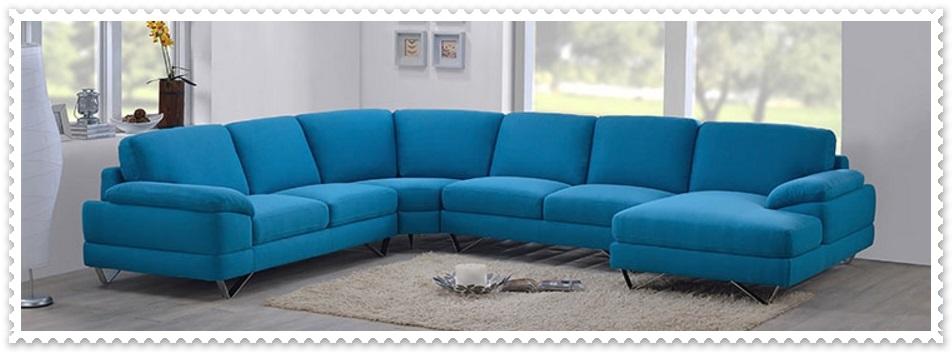 Mavi Modern Salon Takımları