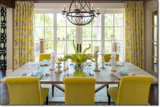 Modern Sarı Yemek Odaları